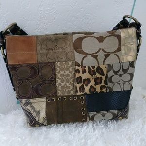 Coach G0773-11498 patchwork